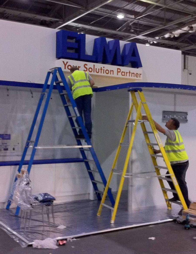 Exhibition Stand Installation : Installation exhibition stand newshield