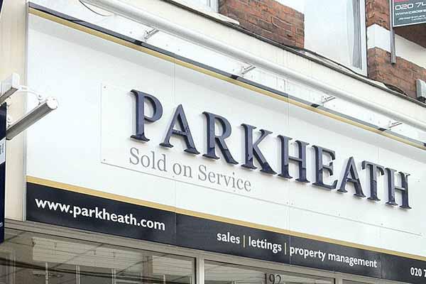 Parkheath shopfront signs