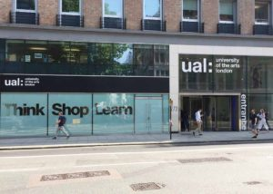 UAL window graphic signage