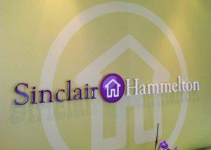 Sinclair Hamilton branded wall graphic