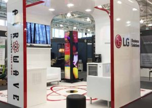 Custom built exhibition stand for Airwave