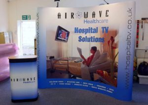 Airwave exhibition pop-up graphics