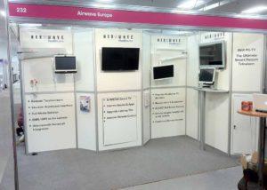 Airwave modular exhibition stand