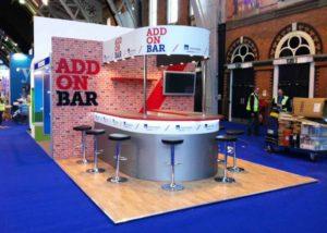 Axa Insurance custom built exhibition stand