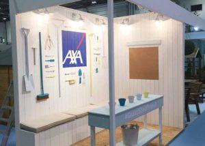 Axa custom built exhibition stand
