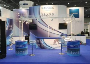Blue Helix's custom built exhibition stand