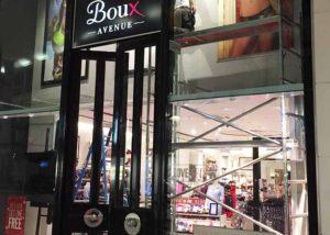 Boux Avenue entrance graphics