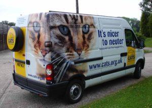 Cats Protection van wrap display
