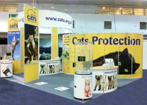 Cats Protection modular exhibition stand