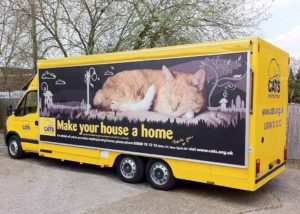 Cats Protection exhibition vehicle