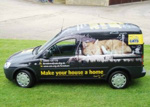 Cats Protection vehicle wrap 1
