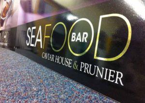 Caviar House seafood graphics
