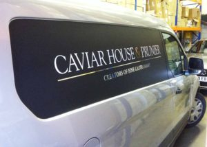 Van signage for Caviar House