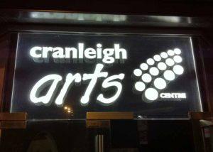 Cranleigh Arts Centre entry signage