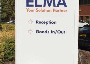 Exterior signage for Elma HO