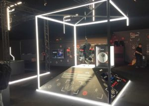 Future Labs graphic installation at Goodwood FOS