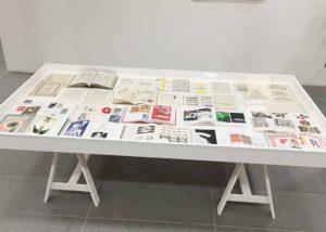 Monotype display cases