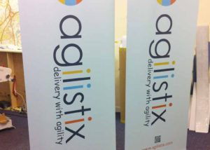Agilistix roller banner graphics