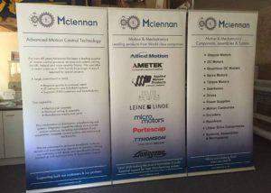 McLennan roller banner graphics
