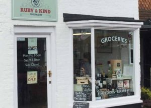 Ruby & Kind external store signage