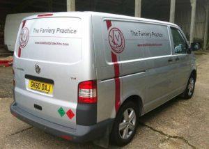 The Farriery Practice van wraps