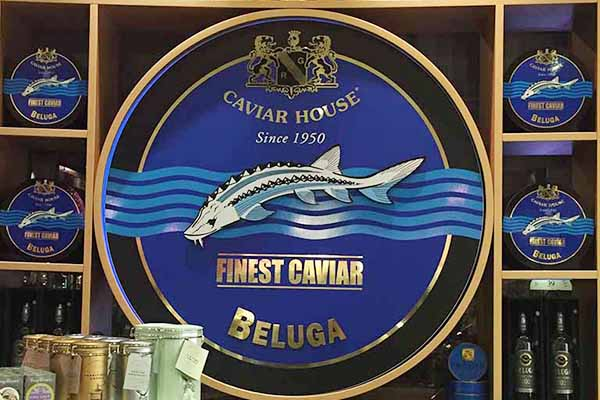 Caviar House display