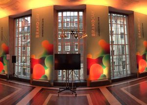 Monotype graphics installation at RIBA in London