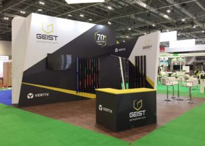 Bespoke exhibition stand for Geist at Data Centre World