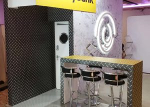 Clip, pole and panel display boards for Maybank