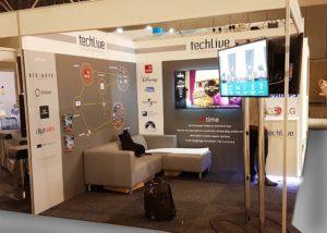 Techlive reusable stand at Hitec Amsterdam