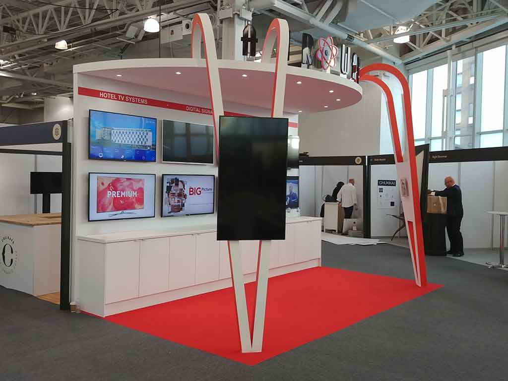Airwave exhibition stand at Olympia