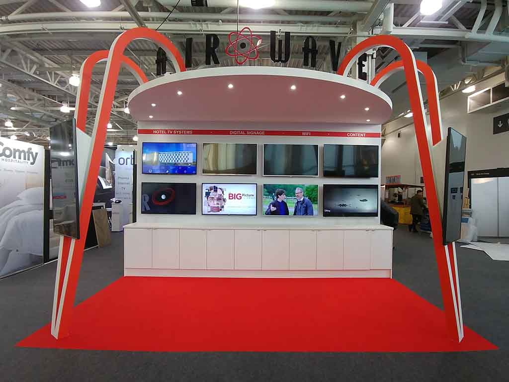 Airwave exhibition stand at Olympia, London