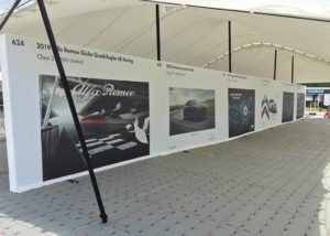 large format display graphics site-wide at Goodwood Festival of Speed
