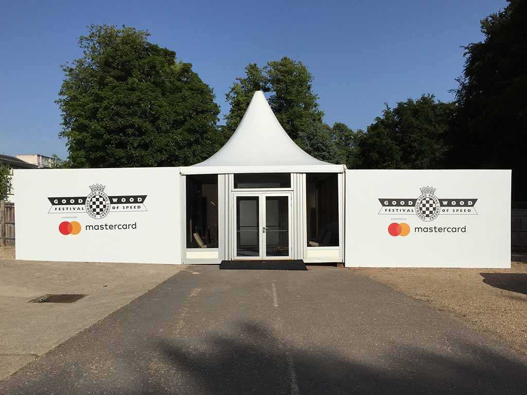 large format display graphics at Goodwood Festival of Speed.