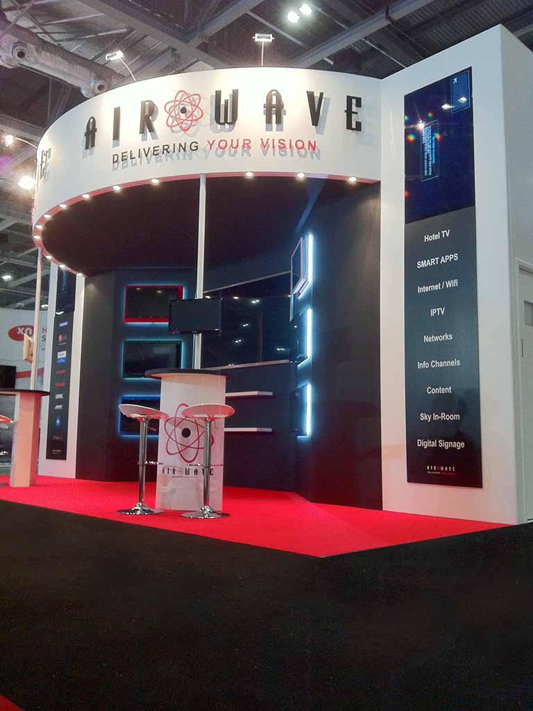 Custom Exhibition Stand Uk : Airwave london newshield