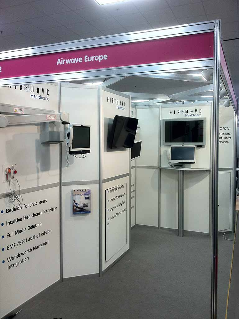 Modular Exhibition Stands London : Airwave london newshield
