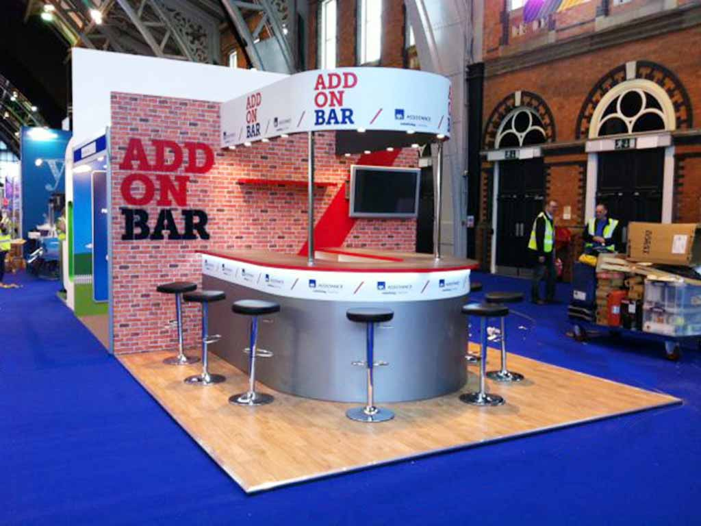 Exhibition Stand Hire Manchester : Axa insurance manchester newshield
