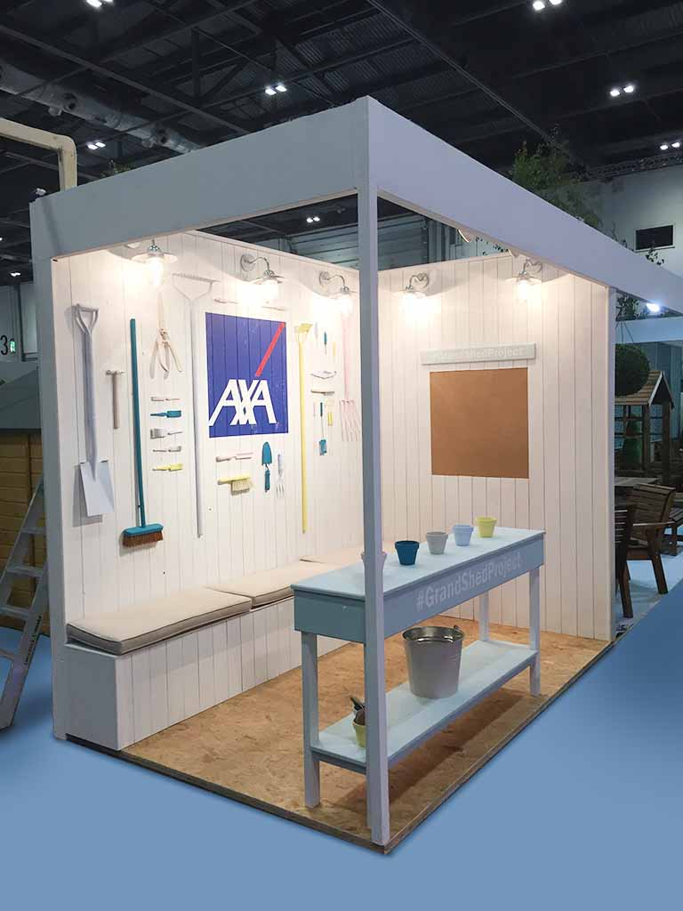 Modern Exhibition Stand Uk : Axa london newshield