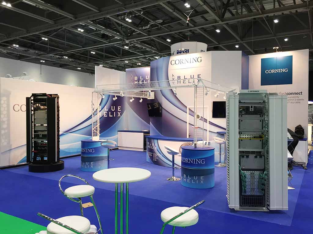 Exhibition Stand Rental London : Blue helix london newshield