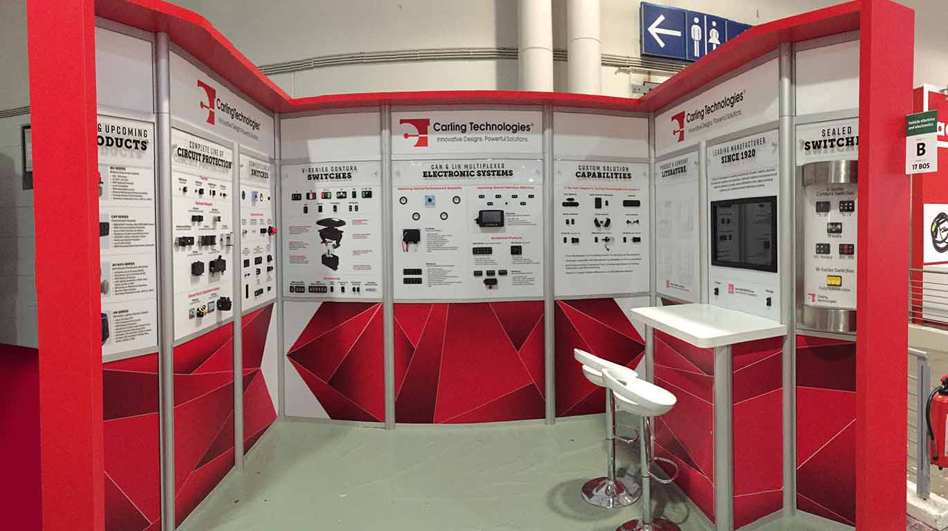 Modular Exhibition Stands London : Carling hannover newshield