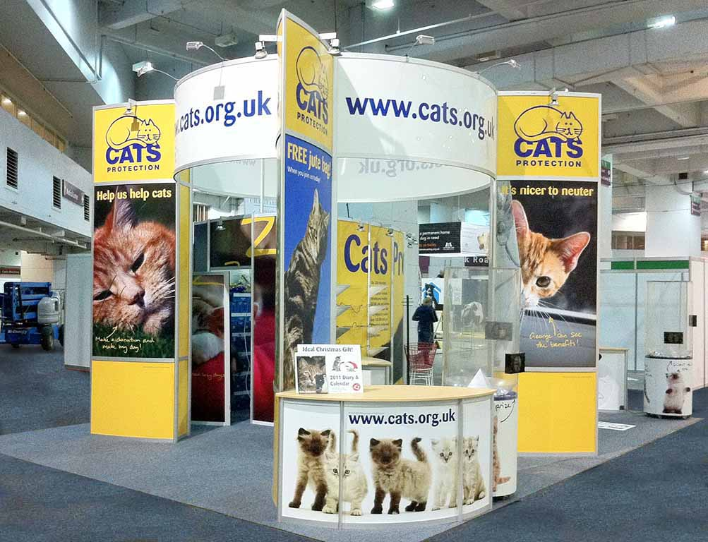 Modular Exhibition Stands London : Cats protection london newshield
