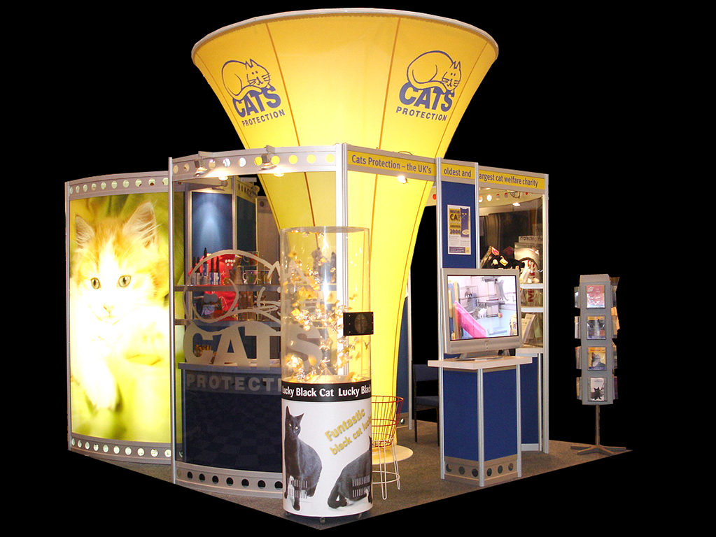 Exhibition Stand Designer Job Description : Cats protection london newshield