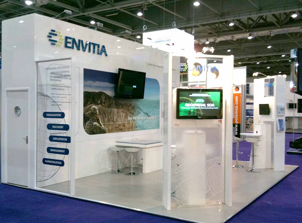 Exhibition Stand Designer Job Description : Envitia london newshield