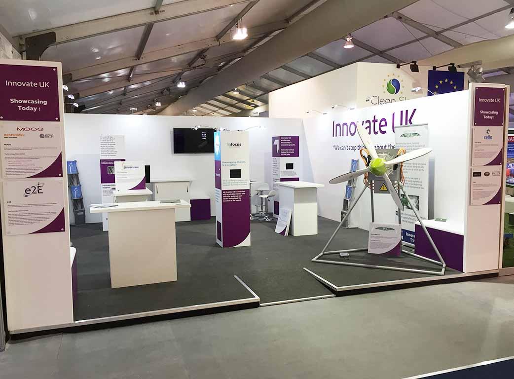 Modular Exhibition Stands Tall : Innovate uk farnborough newshield