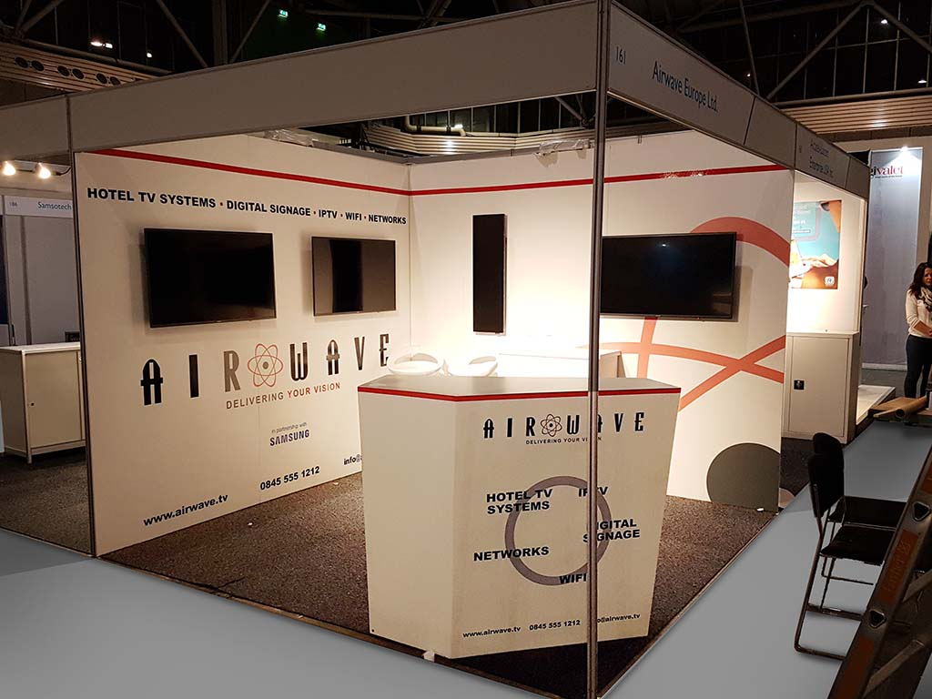 Airwave custom stand at Hitec in Amsterdam